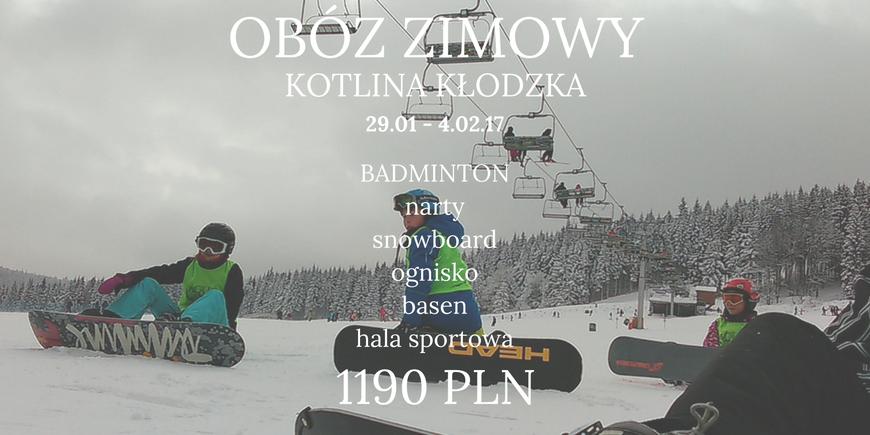 Obóz narciarsko-snowboardowy 29.01 – 4.02.2017r.