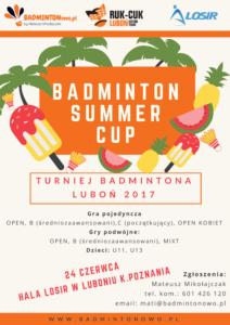 Turniej Badmintona w Luboniu 2017